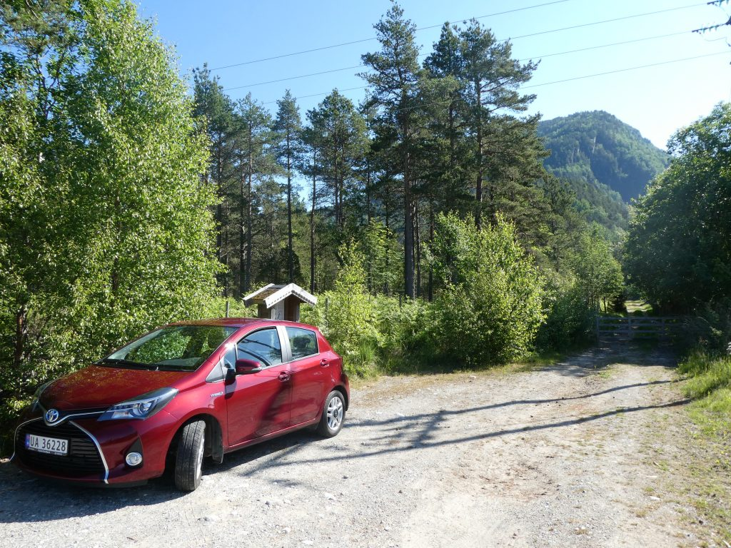 første spor etter mennesker i norge